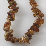 Amber Baltic small chip nugget gemstone beads (N) Approximate size 3 x 4.5mm to at least 5 x 8mm 18 inch
