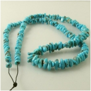 Turquoise Campitos graduated pebble nugget gemstone beads (S) Approximate size 4.6 x 5mm to 6.1 x 10.1mm 18 inch