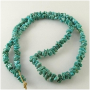 Turquoise Fox graduated nugget gemstone beads (N) Approximate size 3.5 x 4.3mm to 5.8 x 9mm 24 inch