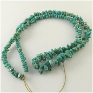 Turquoise Fox graduated nugget gemstone beads (N) Approximate size 3.7 x 5mm to 6 x 10mm 24 inch