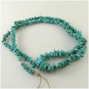 Turquoise Fox graduated nugget gemstone beads (N) Approximate size 4 x 5mm to 5 x 11mm 24 inch