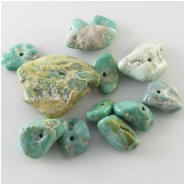 12 Broken Arrow Variscite nugget gemstone beads (N) Approximate size 7.5 x 11mm to 28 x 29mm 3.5 to 10.3mm thick