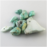 10 Broken Arrow Variscite nugget gemstone beads (N) Approximate size 6.8 x 13mm to 27 x 32mm 4.5 to 9mm thick