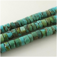 Turquoise Hubei heishi gemstone beads (S) Approximate size 8.4 to 9mm 15.5 inch