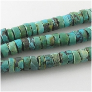 Turquoise Hubei heishi gemstone beads (S) Approximate size 8.4 to 9.2mm 15.3 inch