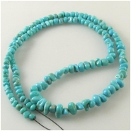 Turquoise Campitos graduated pebble nugget gemstone beads (S) Approximate size 3.9 x 4.5mm to 5.6 x 9.4mm 18 inch