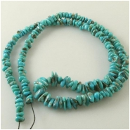 Turquoise Campitos graduated nugget gemstone beads (S) Approximate size 4.3 x 5.5mm to 5.4 x 11.1mm 18 inch