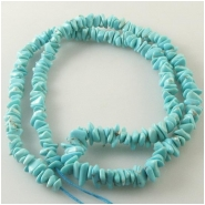 Turquoise Campitos graduated nugget gemstone beads (S) Approximate size 3.8 x 4.5mm to 6 x 9mm 18 inch