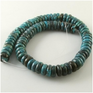 Turquoise Hubei rondelle gemstone beads (S) Approximate size 11.3 to 11.8mm diameter 15.5 inch