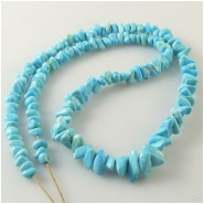 Turquoise Sleeping Beauty graduated nugget Zachery process gemstone beads Approximate size 3 x 5.5mm to 5.6 x 10mm 18 inch